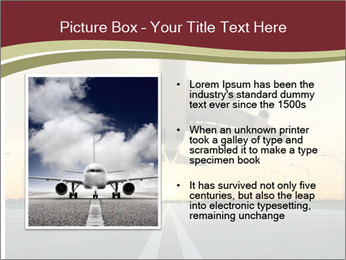 Airplane at takeoff PowerPoint Templates - Slide 13
