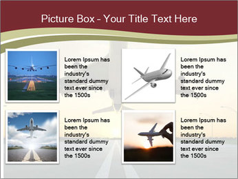 Airplane at takeoff PowerPoint Templates - Slide 14
