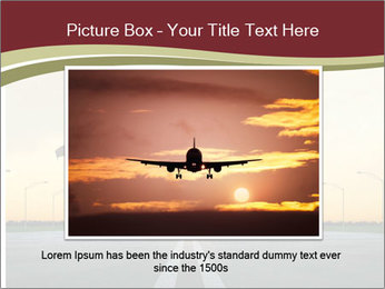 Airplane at takeoff PowerPoint Template - Slide 15