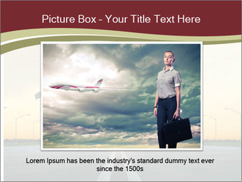 Airplane at takeoff PowerPoint Template - Slide 16