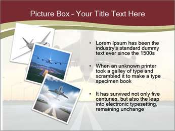 Airplane at takeoff PowerPoint Templates - Slide 17