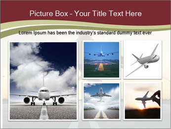 Airplane at takeoff PowerPoint Templates - Slide 19