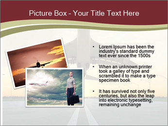 Airplane at takeoff PowerPoint Template - Slide 20