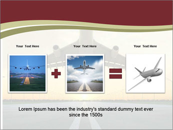 Airplane at takeoff PowerPoint Template - Slide 22