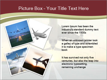 Airplane at takeoff PowerPoint Template - Slide 23