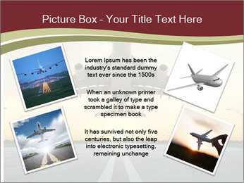 Airplane at takeoff PowerPoint Template - Slide 24