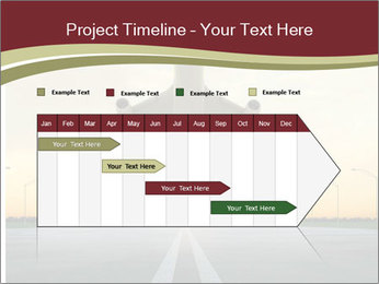 Airplane at takeoff PowerPoint Template - Slide 25
