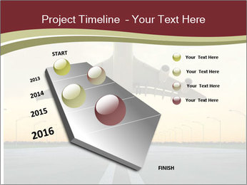 Airplane at takeoff PowerPoint Template - Slide 26