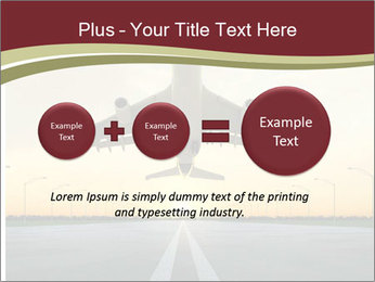 Airplane at takeoff PowerPoint Templates - Slide 75