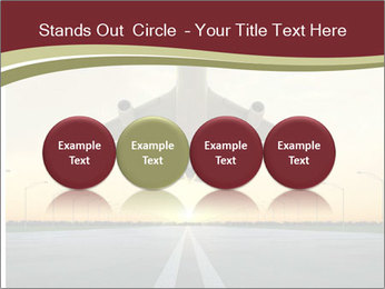 Airplane at takeoff PowerPoint Templates - Slide 76