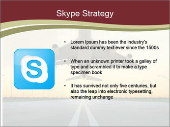 Airplane at takeoff PowerPoint Template - Slide 8