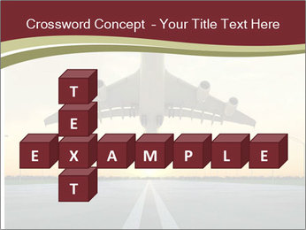 Airplane at takeoff PowerPoint Templates - Slide 82