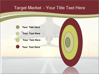 Airplane at takeoff PowerPoint Template - Slide 84