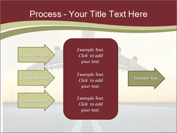 Airplane at takeoff PowerPoint Templates - Slide 85