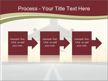 Airplane at takeoff PowerPoint Templates - Slide 88