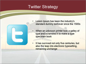 Airplane at takeoff PowerPoint Templates - Slide 9