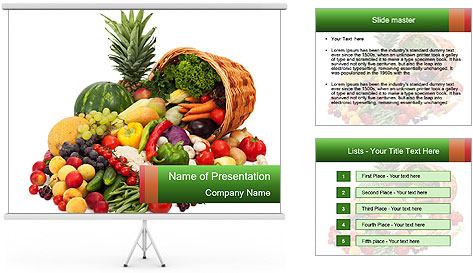 Fresh Vegetables PowerPoint Template