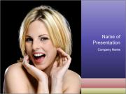 Gorgeous blonde babe poses PowerPoint Templates