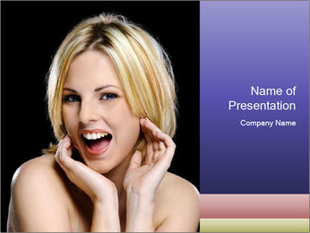 Gorgeous blonde babe poses PowerPoint Template - Slide 1