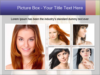 Gorgeous blonde babe poses PowerPoint Template - Slide 19