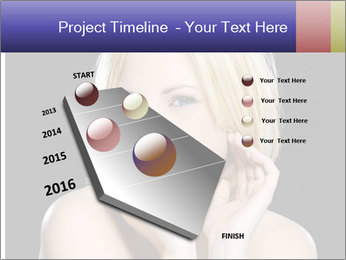 Gorgeous blonde babe poses PowerPoint Template - Slide 26
