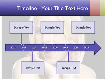 Gorgeous blonde babe poses PowerPoint Template - Slide 28