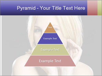 Gorgeous blonde babe poses PowerPoint Template - Slide 30