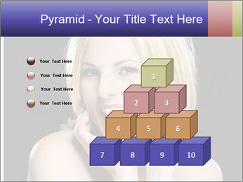 Gorgeous blonde babe poses PowerPoint Template - Slide 31