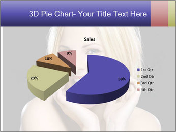 Gorgeous blonde babe poses PowerPoint Template - Slide 35