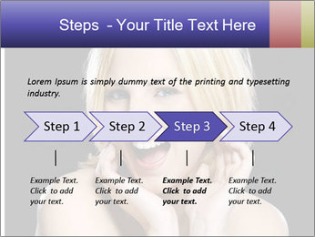 Gorgeous blonde babe poses PowerPoint Template - Slide 4