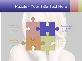 Gorgeous blonde babe poses PowerPoint Templates - Slide 43
