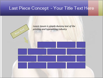 Gorgeous blonde babe poses PowerPoint Template - Slide 46
