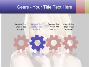 Gorgeous blonde babe poses PowerPoint Template - Slide 48