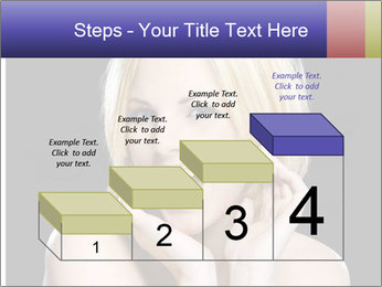 Gorgeous blonde babe poses PowerPoint Template - Slide 64