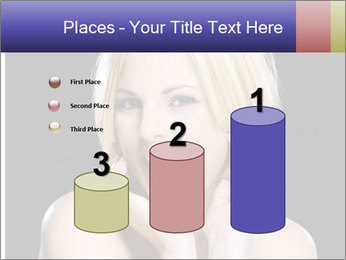 Gorgeous blonde babe poses PowerPoint Template - Slide 65
