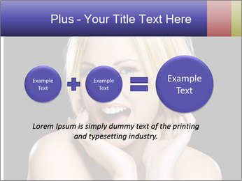 Gorgeous blonde babe poses PowerPoint Template - Slide 75