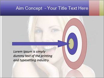 Gorgeous blonde babe poses PowerPoint Template - Slide 83
