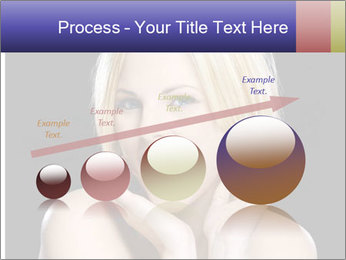 Gorgeous blonde babe poses PowerPoint Template - Slide 87