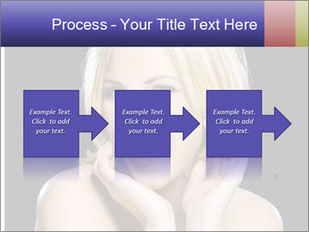 Gorgeous blonde babe poses PowerPoint Template - Slide 88