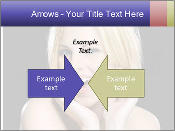 Gorgeous blonde babe poses PowerPoint Templates - Slide 90