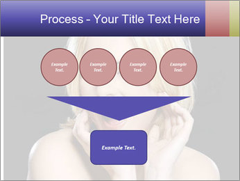 Gorgeous blonde babe poses PowerPoint Template - Slide 93