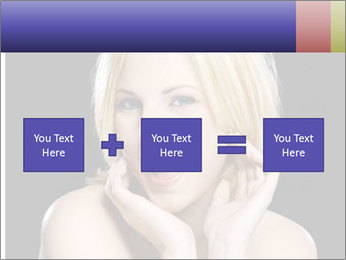 Gorgeous blonde babe poses PowerPoint Templates - Slide 95