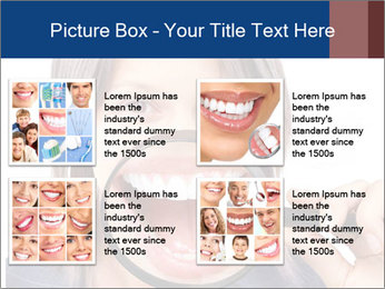 Beautiful young woman teeth PowerPoint Template - Slide 14