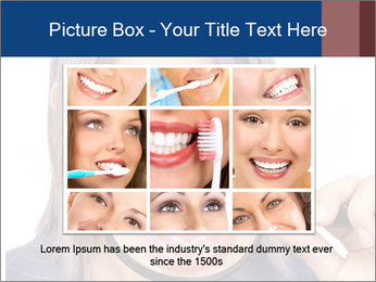 Beautiful young woman teeth PowerPoint Template - Slide 15