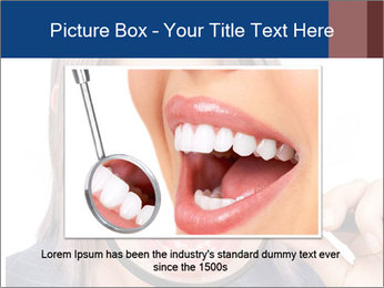 Beautiful young woman teeth PowerPoint Template - Slide 16