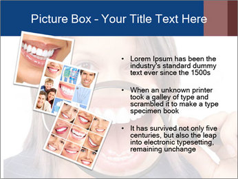 Beautiful young woman teeth PowerPoint Template - Slide 17