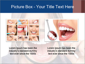 Beautiful young woman teeth PowerPoint Template - Slide 18