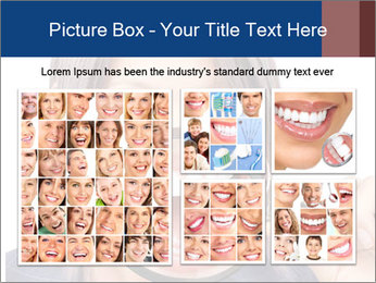 Beautiful young woman teeth PowerPoint Template - Slide 19