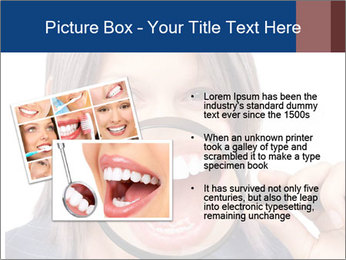 Beautiful young woman teeth PowerPoint Template - Slide 20