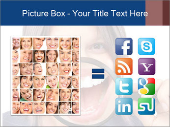 Beautiful young woman teeth PowerPoint Template - Slide 21